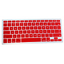 Silicon QWERTY Keyboard Cover for Mac Book (Red)