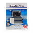8GB Memory Stick PRO DUO Memory Card and Memory Stick Duo Adapter