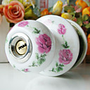 High Quality Ceramic Door Knob with Lock (Porcelain Door Knob) (0768-W03-SST)