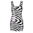 Deep U Neckline Sequin Zebra Pattern Women's Dresses(1801BA010-0741)