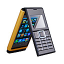 N9 Dual Band Dual Card Bluetooth FM Touch Screen Flip Cell Phone Gold (2GB TF Card and Free Cover)