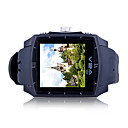 G2 Built In 2G Memory Quad Band Bluetooth Touch Screen Water Proof Watch Cell Phone Black