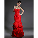 Trumpet/  Mermaid Strapless Floor-length Taffeta Evening Dress (FSH0070)