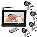 "2.4GHZ 7-Inch Baby Monitor with 4x 1/3"" CMOS Night Vision Camera"