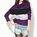 Cowl Neck Horizontal Stripes Bat Sleeves Women's Sweaters(1001BC104-0736)