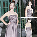A-line Sweetheart Floor-length Sleeveless Elastic silk-like satin Quick Delivery Dress (OFGC340)