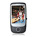 T3238 Windows Mobile 6.5 Single Card Quad Band GPS WIFI Flat Touch Screen Cell Phone Black (2GB TF Card)