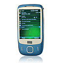 t3238 + Windows Mobile 6.5 gps wifi java quad band bluetooth toque de telefone celular de tela azul (TF carto de 2GB e capa de couro) (sz04581431)