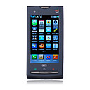 X10 Dual Card Dual Camera Quad Band WIFI TV 3.5 Inch Flat Touch Srceen Cell Phone Black (2GB TF Card)