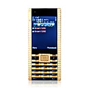 V8 Dual Card Quad Band Dual Camera Metal Cover With The Clock Cell Phone Black and Gold (2GB TF Card)