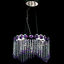Crystal Purple 5-light Pendant(0863-4566)