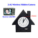 2.4GHz FM wireless Clock Hidden Camera