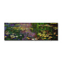 Handmade Painting Water Lilies Claude Monet Stretched Ready to Hang (0192-YCF102702)