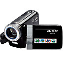 Rich Full HD 720p Digital Camcorder with 3.0-Inch Touch Screen 5X Optical Zoom 20X total Zoom (DCE252)