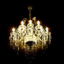 Clearance!Candle Crystal Chandelier with 12 lights (Chrome Finish).Input Voltage:220V