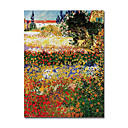 Stretched Handmade Painting Garden in Bloom,Arles c.1888 Vincent Van.Gogh (0192-YCF102660)