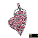 Steering Silver Heart Jewelry USB Flash Drive - Optional Memory From 2 GB to 16 GB (SMQ4638)