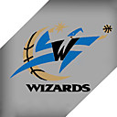 tonnant Washington Wizards NBA badge autocollant rflchissant moto - 25cm (szc5101)