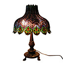 Tiffany-style Peacock Feather Table Lamp(0923-T5)