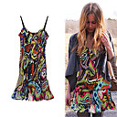 FASHION IDOLS Style / Colorful Printed Camisolen Neckline Dress / Women's Dresses (FF-1802BE021-0736)