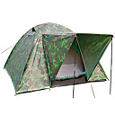 7 X 7-Feet Three-Person Double Layer Camouflage Tent(0956-05.31-HW-19)