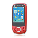 NOKA U8 Dual Card Dual Band Bluetooth FM Metal Cover Touch Screen Slide Cell Phone Red (2GB TF Card)