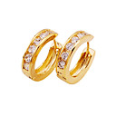 Beautiful CZ Cubic Zirconia 18K Gold Plated Earrings (0292-EYX3-0004)