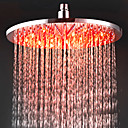 12 Inch Chromed Brass LED Rain Shower Head (0913 -8109)