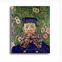Stretched Canvas Handmade Portrait of the Postman Joseph Roulin,c.1889 Painting by Vincent Van Gogh  0192-YCF103227