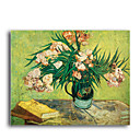 Stretched Canvas Handmade Les Lauriers Roses Painting by Vincent Van Gogh 0192-YCF103171