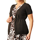 Short Sleeve One Button Closure Maternity Cardigan / Maternity Wear (FF-1002BF001-0751)