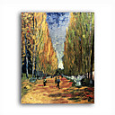 Stretched Canvas Handmade Les Alyscamps Painting by Vincent Van Gogh 0192-YCF103218