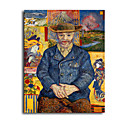 Hand-painted Le Pere Tanguy,c.1887 Oil Painting by Vincent Van Gogh with Stretched Frame