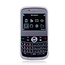 9800 Dual Card Dual Camera Quad Band JAVA QWERTY Keypad Ultra Thin Cell Phone Black(2GB TF Card and Leather Case)