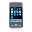 W002 WIFI JAVA Quad Band Dual Sim Dual Camera TV FM Worldphone Touch Screen Cell Phone White (2GB TF Card)