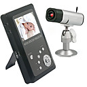 1/3 Inch 2.4GHz 4 Channels Motion Detection Wireless Baby Monitor DVR(Black)
