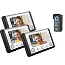 villa sleepte drie 7 inch kleuren LCD video deurtelefoon