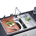 Stainless Steel Multi-function Two Bowls Kitchen Sink(0572 -CK233)