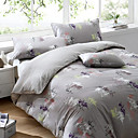 4 Pc Luxurious Cotton stripe Printing Duvet Cover Set(0580 -0S101003S)