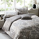 4 Pc 100 Percent Cotton Satin Duvet Cover Set(0580 -0S101007M)