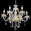 6-lumire de bougie k9 lustre de cristal (0944-hh11028)