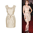 FASHION IDOLS Style / Lace Decorated Bows Sleeveless Round Neckline Dress / Women's Dresses (FF-1802BG002-0736)