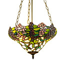 Floral 2-light Tiffany Inverted Pendant Light (0923-TF-P13)