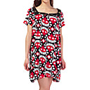 Printed Short Sleeves Square Neckline Jersery Maternity Dress / Women's Maternity Wear (FF-1801BG009-0736)