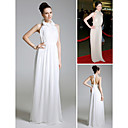 Michelle Trachtenberg Sheath/Column Halter Floor-length Chiffon Evening/ Bridesmaid/ Gossip Girl Fashion Dress(FSH0434)