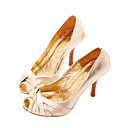 Real Leather Upper High Heels Peep-toes With Bowknot Fashion Shoe (0985-HG2111)