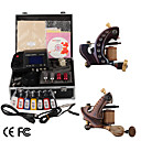 Damascus Hand-made 2 Tattoo Machines Kit with Superior LED Power Supply + Free Adaptor