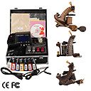 Damascus Hand-made 3 Tattoo Machines Kit with Superior LED Power Supply + Free Adaptor