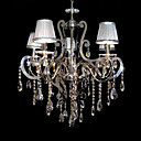 Iron Chrome 5-light Crystal Ceiling Light with Lamp Cover (1048-NT6993-5)