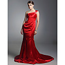Elastic Woven Satin Trumpet/ Mermaid One Shoulder Evening Dress inspired by Sigourney Weaver at Emmy Award